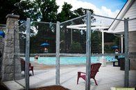 Custom Welded Steel Pool Fence