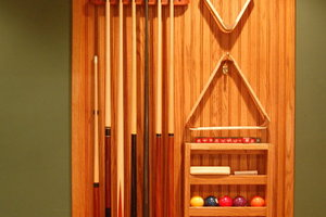 Billiard Room Cue Rack