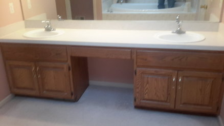 bathroom vanity re-do