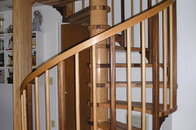 Oak and Walnut spiral stairs