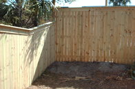 capped privacy fence
