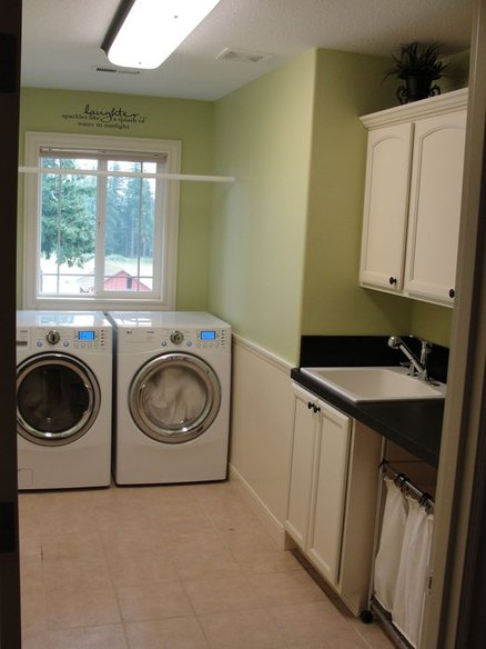 Laundry Room Reconfigured