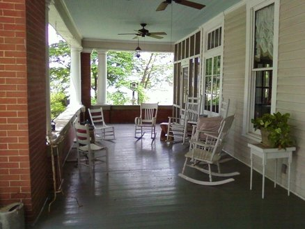 Screened porch and front porch