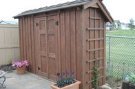 THIN WALL GARDEN SHED/RUSTIC