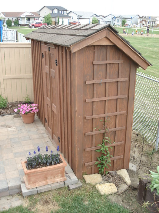 Thin Wall Garden Shed Rustic By Kiefer Homerefurbers