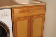 Laundry room counter and cabinet