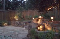 Backyard patio w/water feature