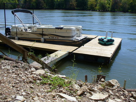 Boat Dock for the River Cabin