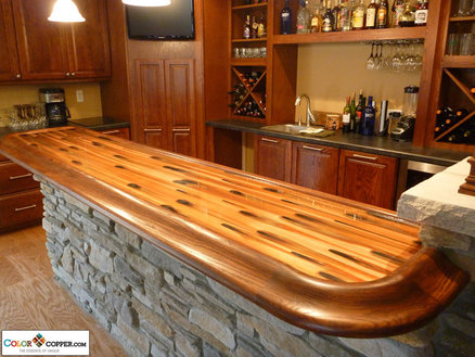 Stellar Color Copper Bar Top