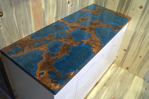 Azul Copper Counter