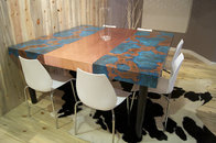 Copper Kitchen Table