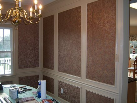 Wallpaper within Dining Room Wall Frames