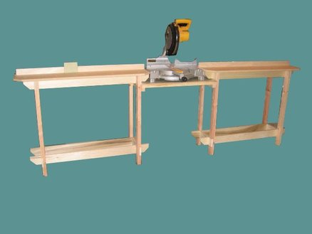 knock down chop saw table