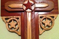 Western Cross - Intarsia Woodworking