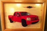 Chevy Truck - Intarsia Woodworking