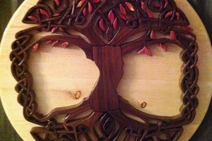 Celtic Tree of Life - Intarsia Woodworking