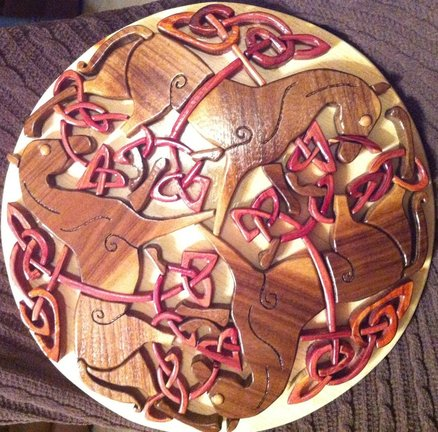 Epona Celtic Horse Knotwork - Intarsia Woodworking