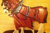 Clydesdale and Colt - Intarsia Woodworking