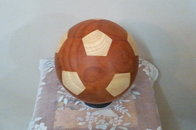 Soccer Ball Padauk and Oak Wood