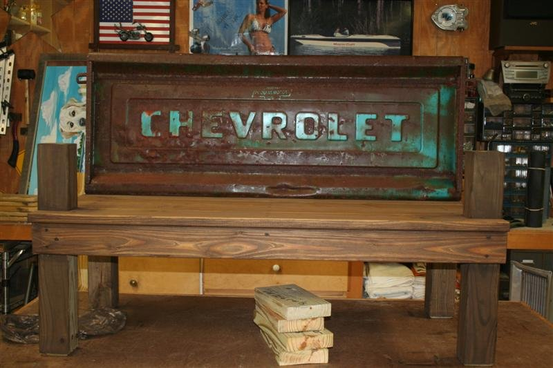 Vintage Tailgate Benches By Skidog Homerefurbers Com