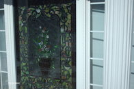 4'x7' framed stain glass window