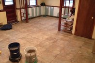 Split level tile and renovation