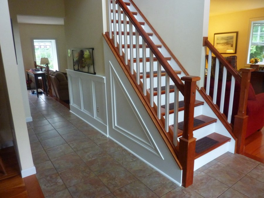 Cherry Staircase Newel Post Railng