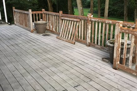 Restain Cedar Deck Railings
