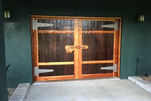 Barn door garage roll up