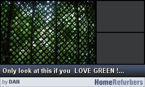 Click for details: Only look at this if you  LOVE GREEN !!!  Back porch lattice work